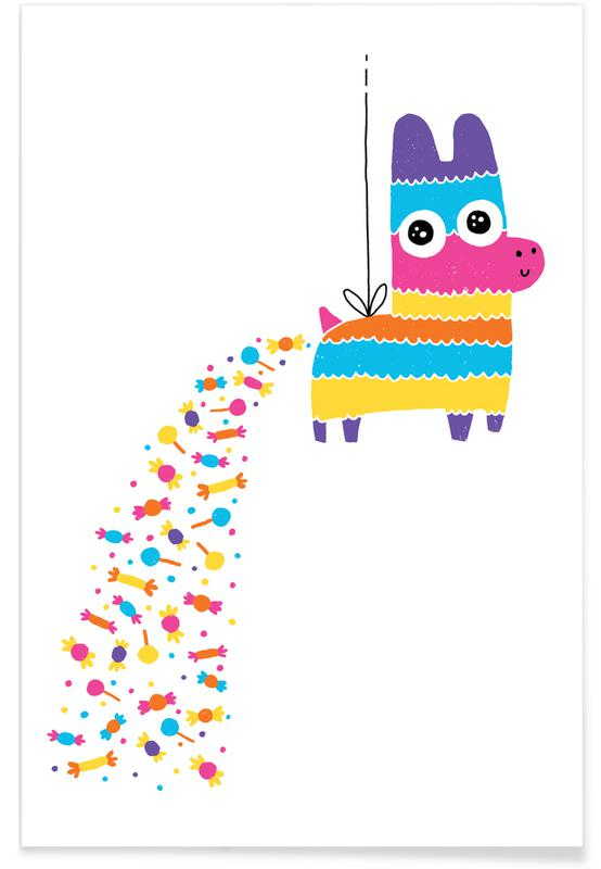 Pingviner, Barnkammar & konst för barn, Rolig, Födelsedagar, How Candy Is Made Poster