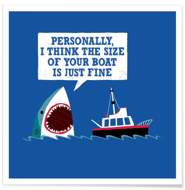 Sharks, Funny, Polite Jaws Poster