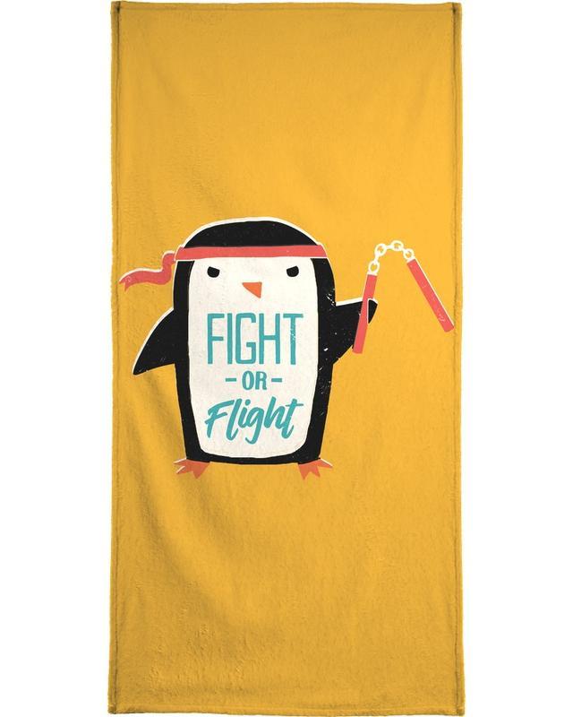 Pinguine, Lustig, Kinderzimmer & Kunst für Kinder, Fight Or Flight -Strandtuch