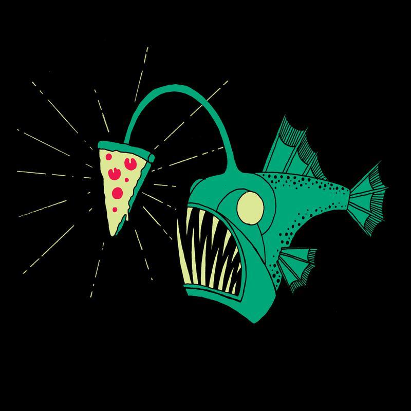 Angling For Pizza -Acrylglasbild