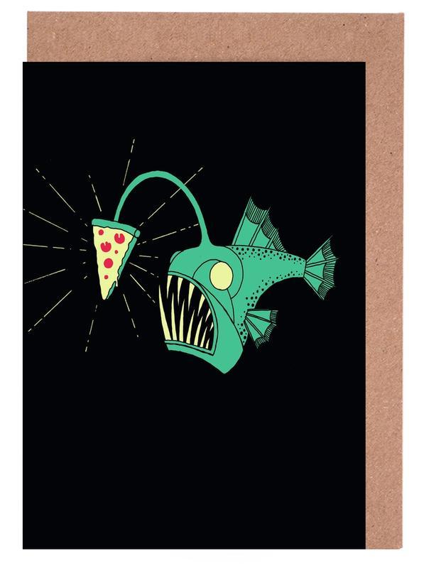 Angling For Pizza -Grußkarten-Set