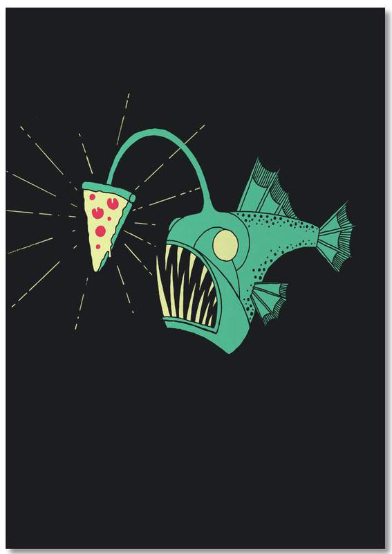 Angling For Pizza -Notizblock