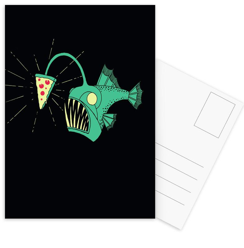 Angling For Pizza -Postkartenset
