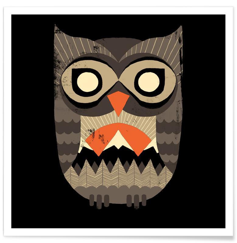 Owl Sunrise Poster
