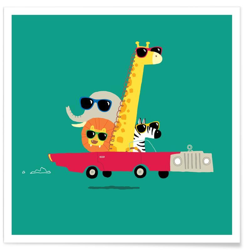 Kunst voor kinderen, Road Trip poster