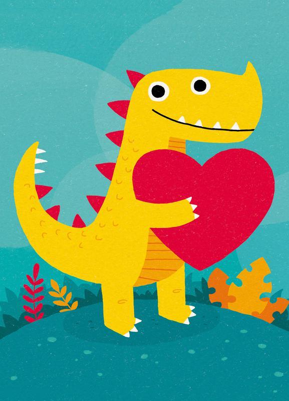 Dino Love toile