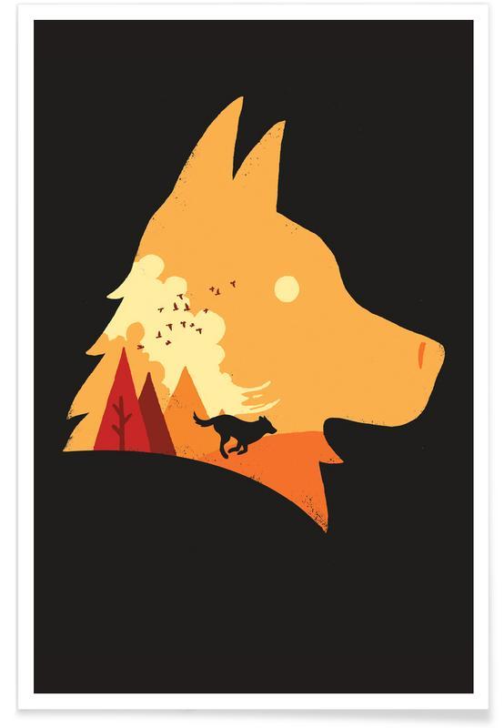 Hunde, Kinderzimmer & Kunst für Kinder, Good Doggo -Poster