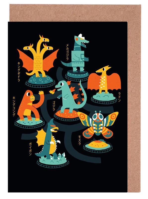 Kinderzimmer & Kunst für Kinder, Tokyo Zoo -Grußkarten-Set