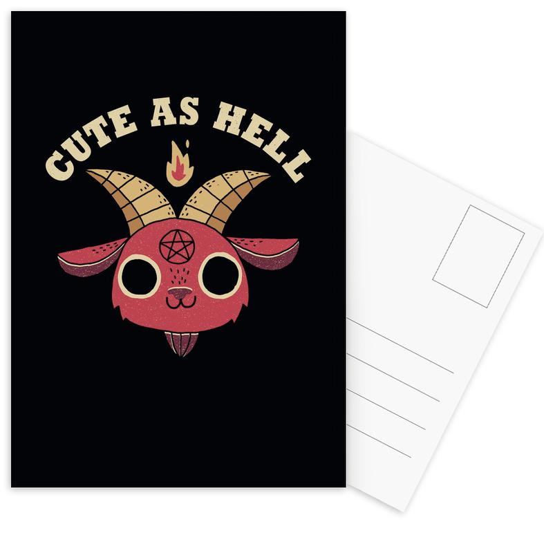 Cute As Hell Postcard Set