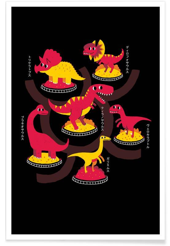 Dinosaurussen, Kunst voor kinderen, Jurassic Trail poster