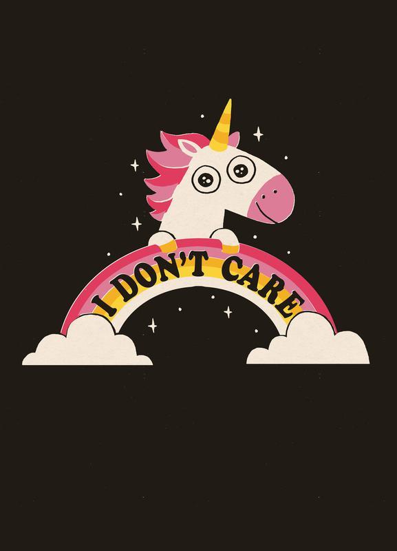 Unicorn Don't Care Canvas Print