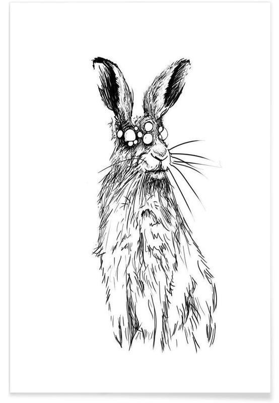 Noir & blanc, Lapins, Pandemia 1 affiche