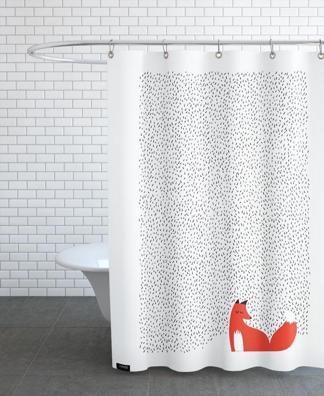 Nursery & Art for Kids, Black Grass Shower Curtain