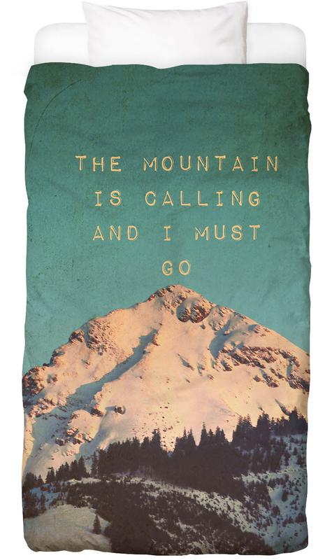 Mountains, Motivational, Mountain Is Calling Bed Linen