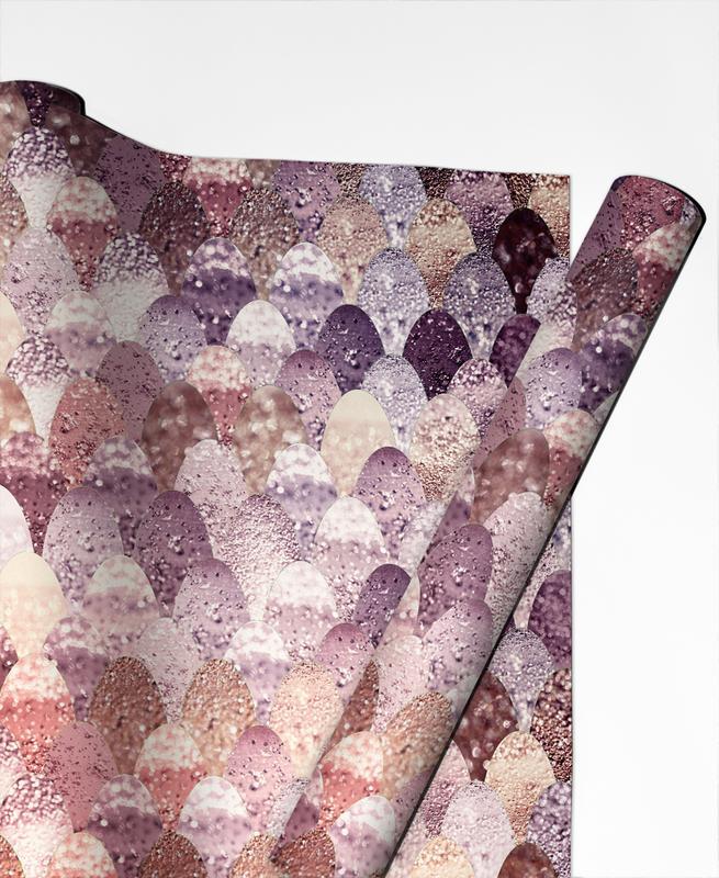 Mermaid Rosegold -Geschenkpapier