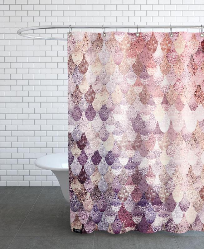 Mermaid Rosegold rideau de douche