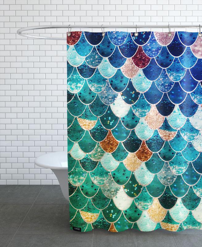 Mermaid Tiffany Shower Curtain