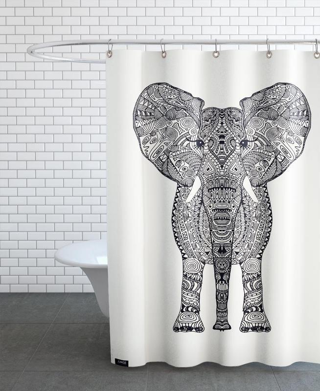 Aztec Elephant rideau de douche
