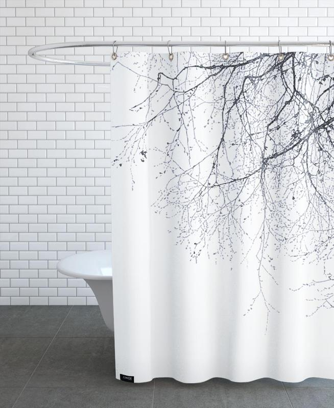 Black & White, Trees, Black Branches Shower Curtain