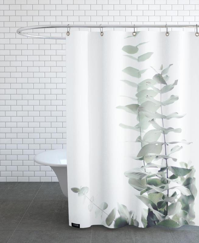 Leaves & Plants, Eucalyptus White 2 Shower Curtain