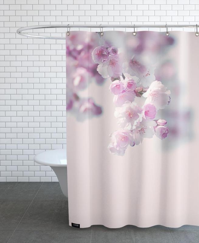, Pastel Rose Cherry II Shower Curtain