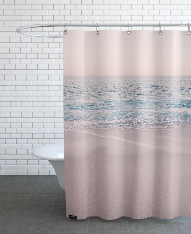 Rosegold Beach Morning -Duschvorhang