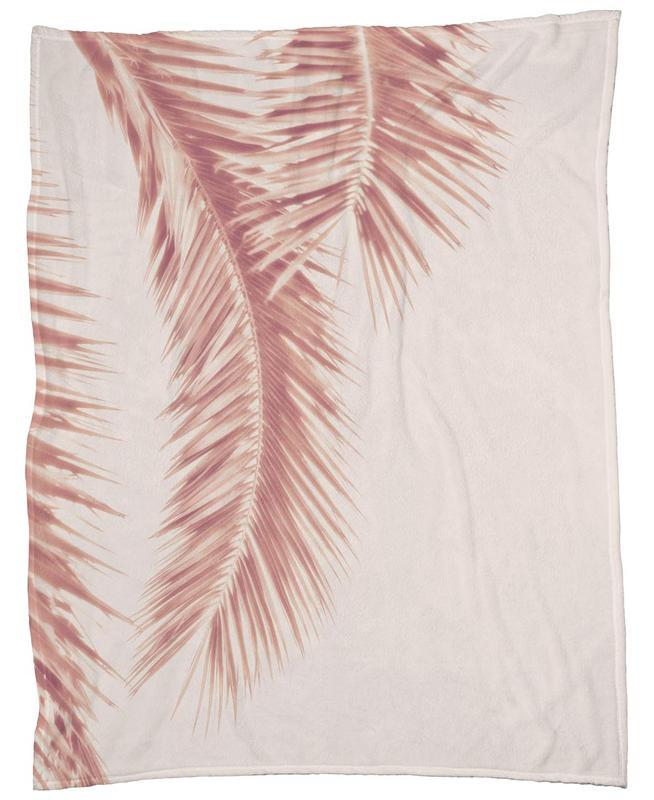 Rose Palm Leaves -Fleecedecke