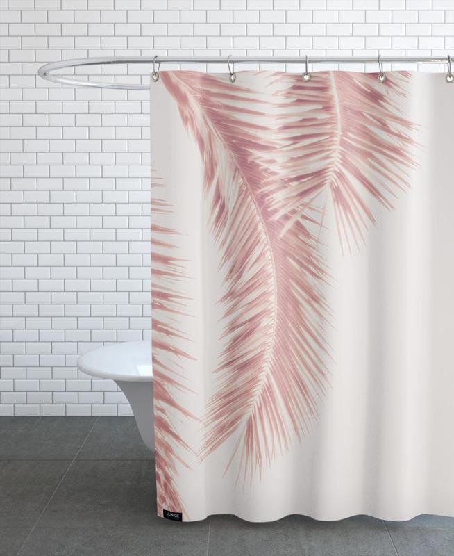 Rose Palm Leaves rideau de douche