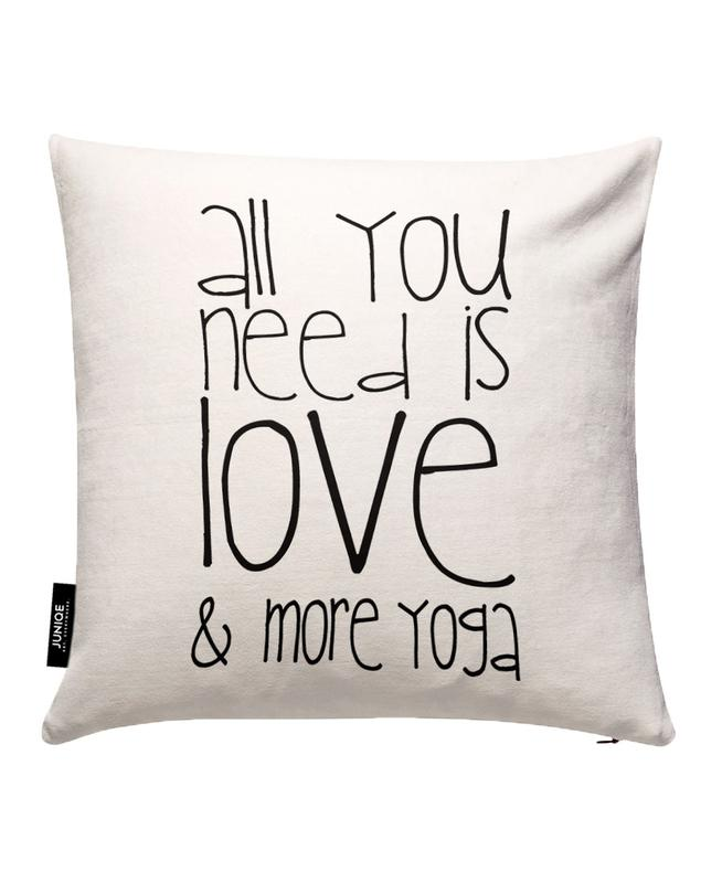 Love and Yoga Cushion Cover