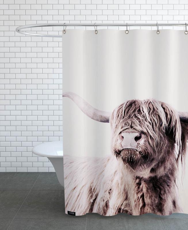 Highland Cattle Frida Crème -Duschvorhang