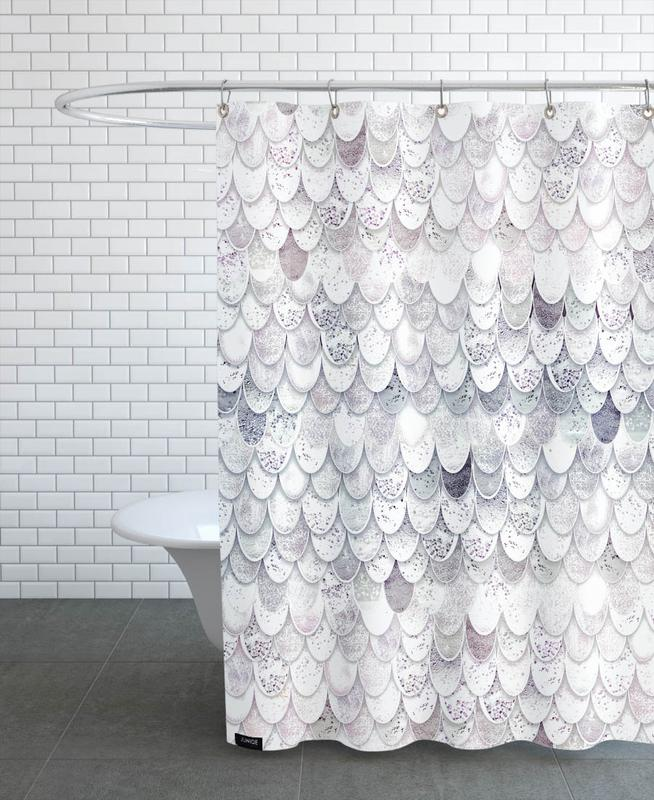 Magic Mermaid White Shower Curtain
