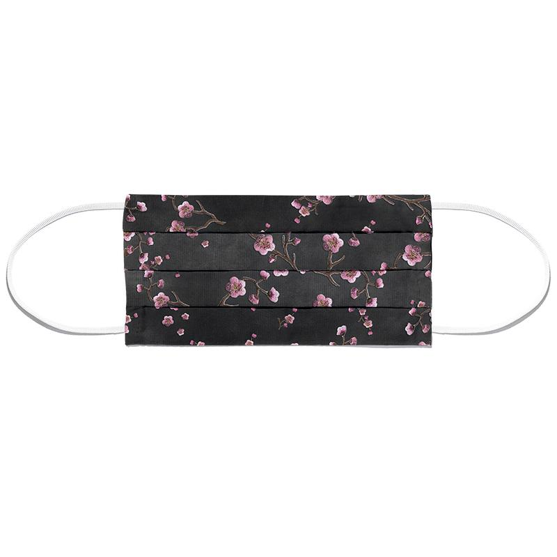 Sakura Black Masque barrière en tissu