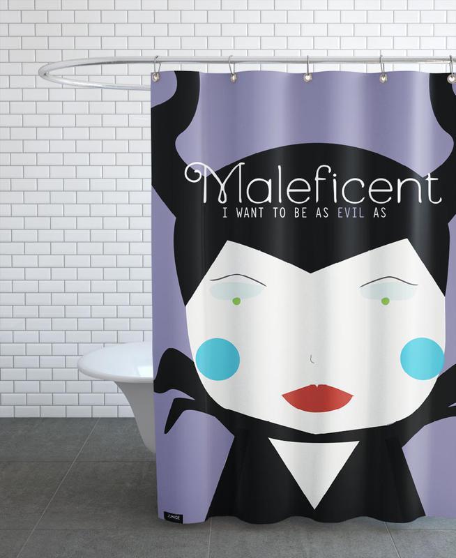 Little Maleficient Shower Curtain