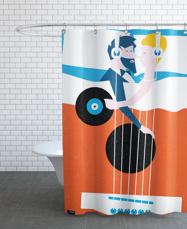 Bed In Shower Curtain