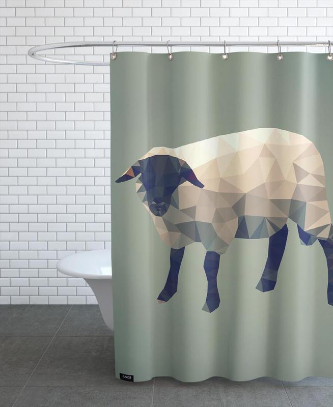 Moutons, Ovis aries rideau de douche
