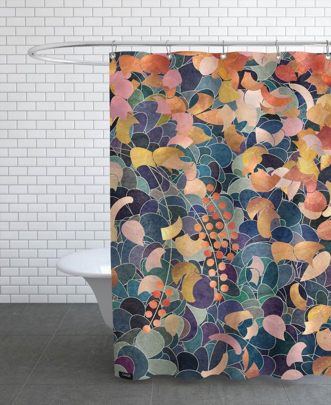 Leaves & Plants, Patterns, A Shiny Path 3 Shower Curtain