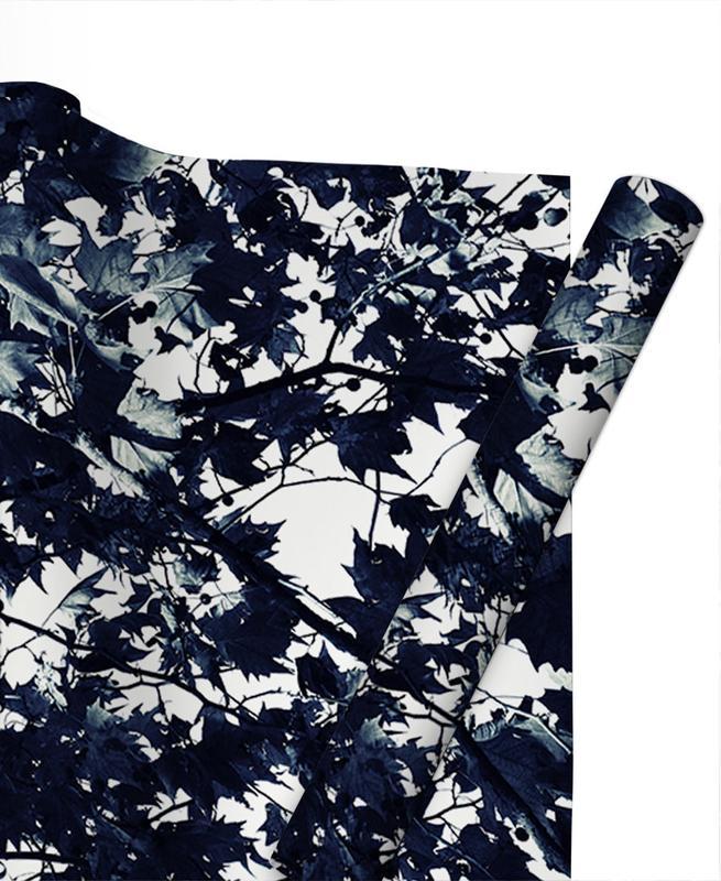 Schwarz & Weiß, Blätter & Pflanzen, Bäume, Fade to Grey -Geschenkpapier