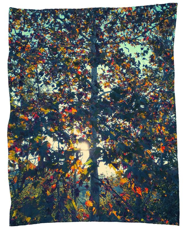 Autumn Language Fleece Blanket