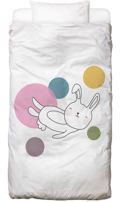 Kinderzimmer & Kunst für Kinder, Kaninchen, Space Rabbits Neo -Kinderbettwäsche
