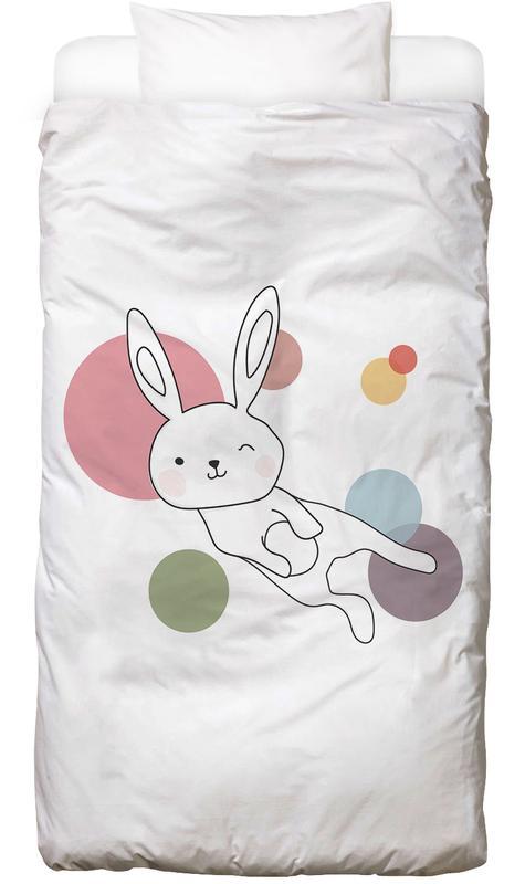 Kinderzimmer & Kunst für Kinder, Kaninchen, Space Rabbits Selena -Kinderbettwäsche