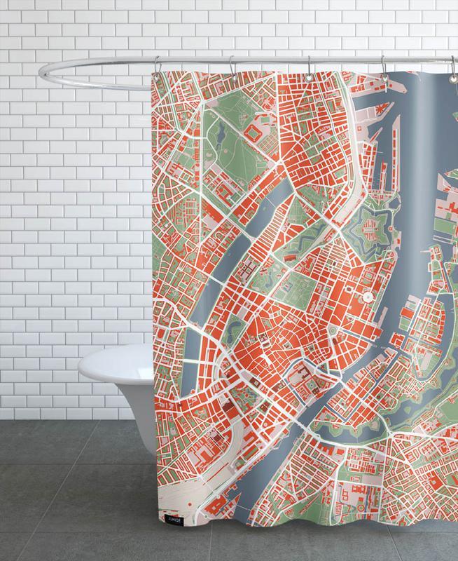 Stadtpläne, Kopenhagen, Copenhagen- Classic -Duschvorhang