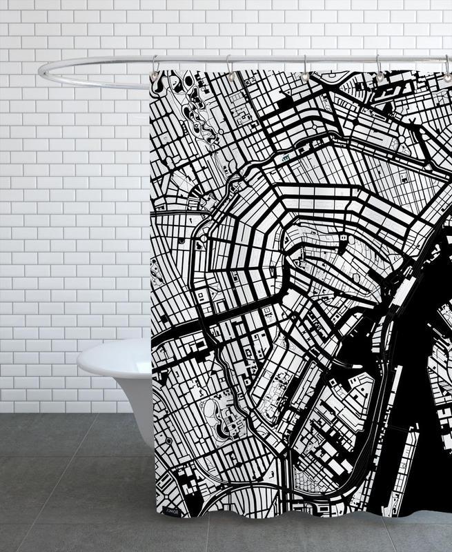 Noir & blanc, Amsterdam, Amsterdam Black And White rideau de douche