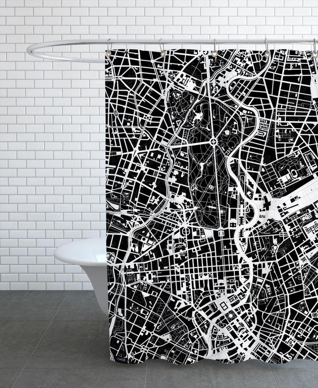Berlin, Schwarz & Weiß, Berlin Black & White -Duschvorhang