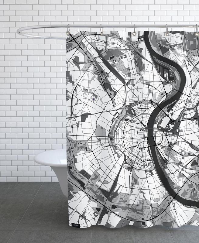 Schwarz & Weiß, Cologne Black & White -Duschvorhang