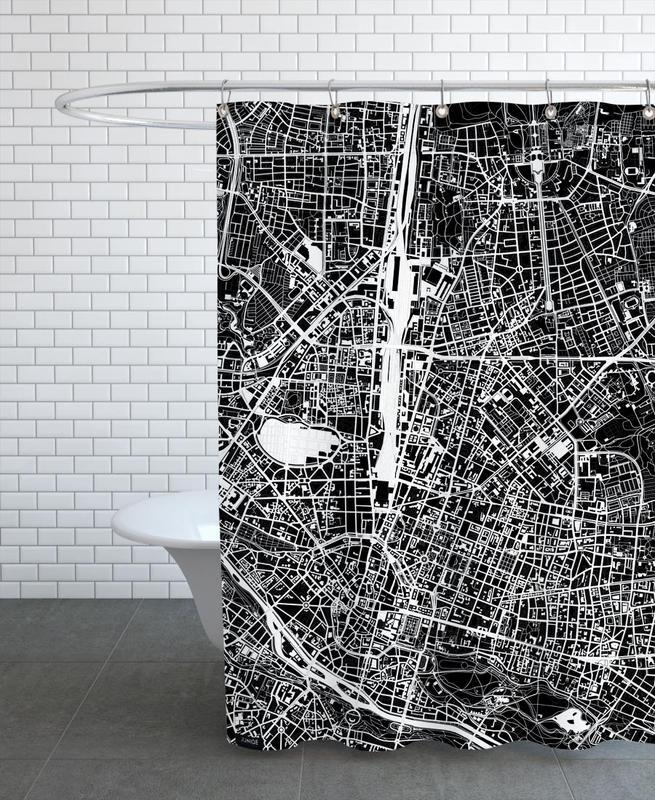 München, Schwarz & Weiß, Munich Black & White -Duschvorhang