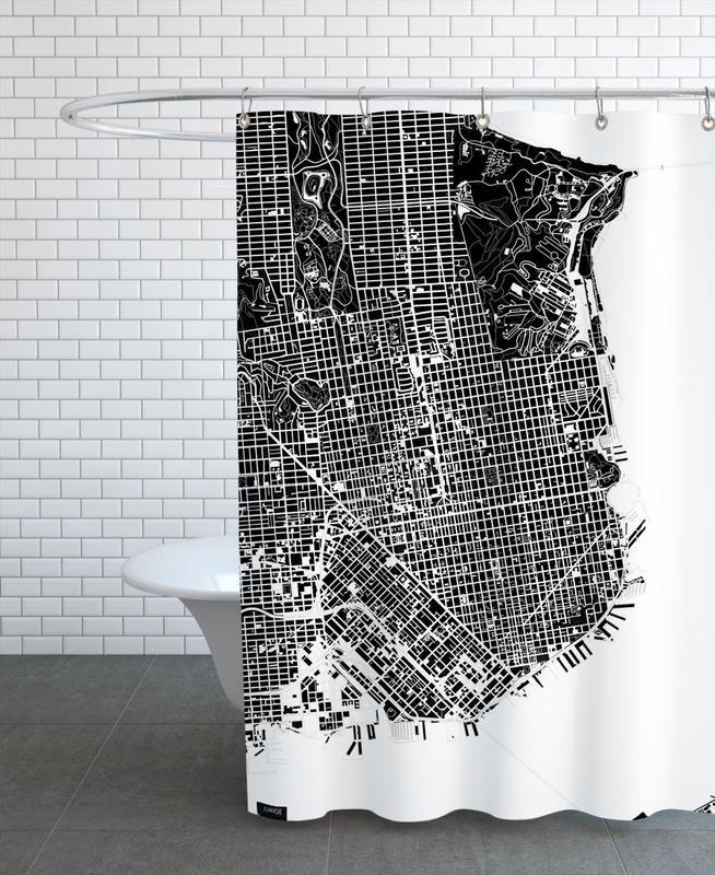 San Francisco, Noir & blanc, San Francisco Black & White rideau de douche