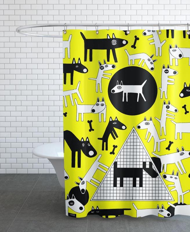 Chiens, dogs rideau de douche