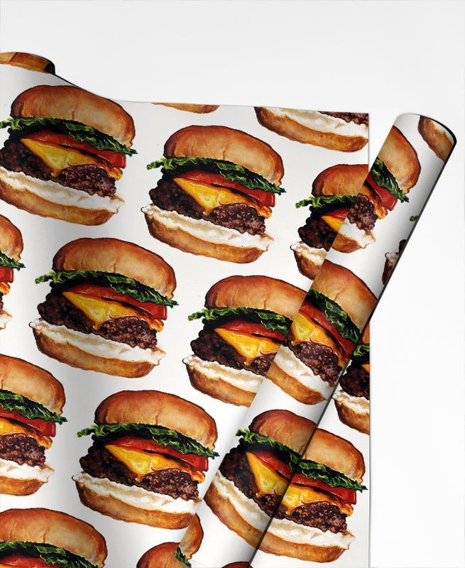 Cheeseburger Pattern -Geschenkpapier