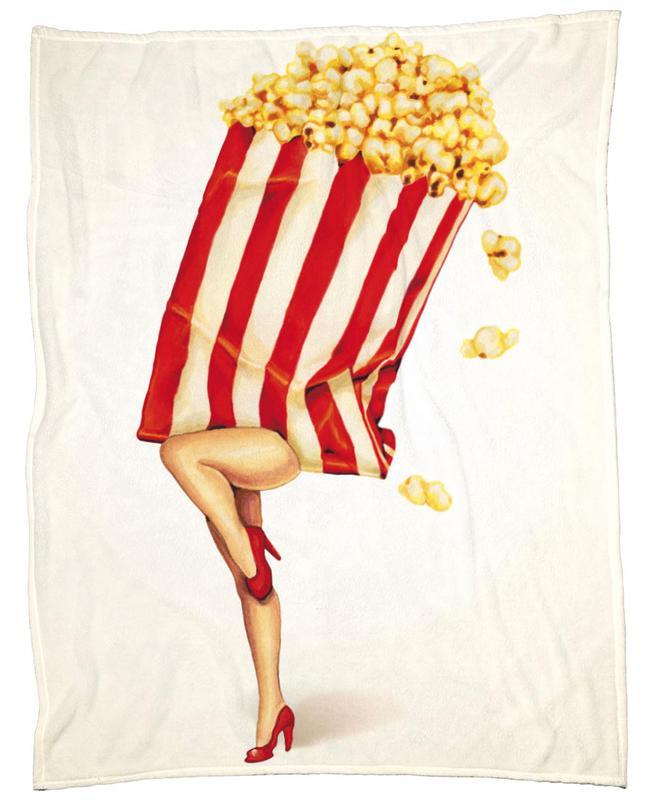 Popcorn Girl plaid