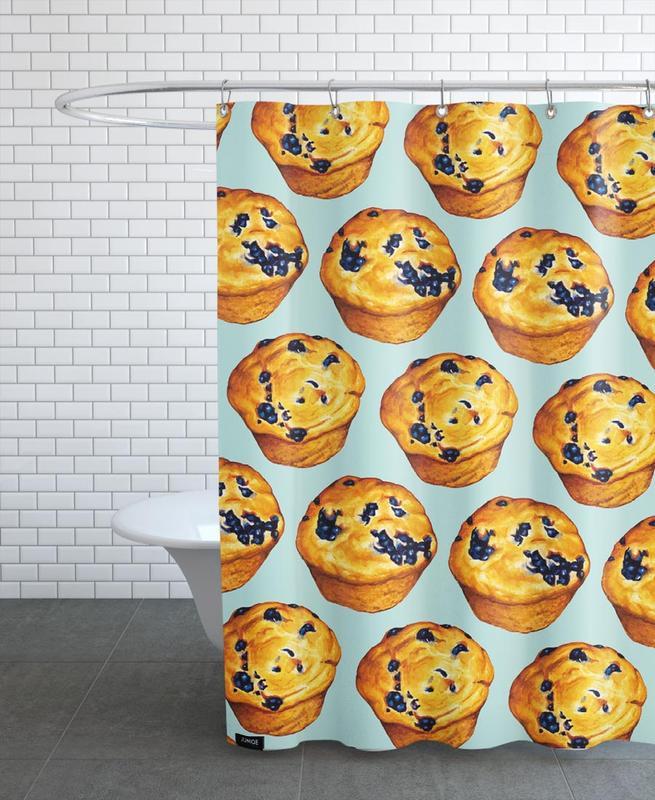 Blueberry Muffin Pattern -Duschvorhang